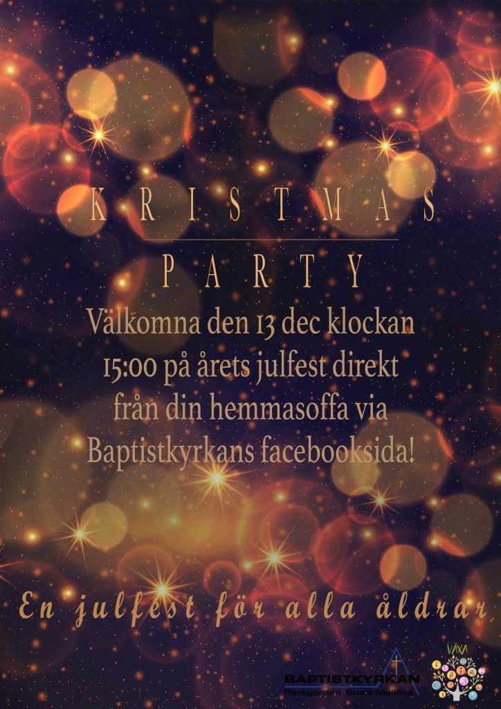 Kristmasparty AffichA4